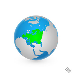 continent europe vector image