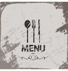 menu vintage abstract grunge background vector image vector image