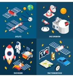 Space Exploration Isometric vector image