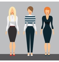 Women in office clothes Beautiful woman in vector image