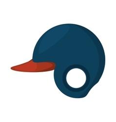 baseball helmet equipment uniform icon vector image