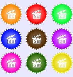 Cinema movie icon sign Big set of colorful diverse vector image