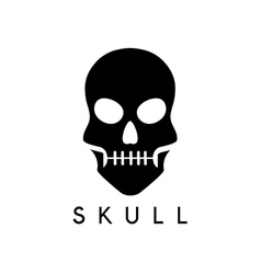 abstract icon design template of skull vector image vector image
