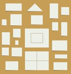 Blank Postage Stamp Set vector image