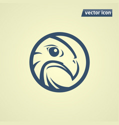 falcon in circle vector image vector image