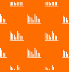 financial analysis chart pattern seamless vector image vector image