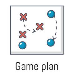game plan icon cartoon style vector image vector image