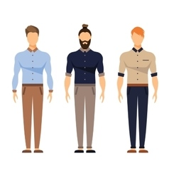 Men in office clothes Casual Outfit Business vector image