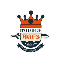 Middle ages logo original premium quality vector