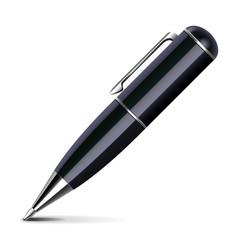 black stylish pen isolated on white vector image