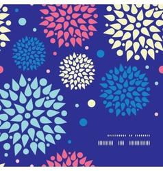 Colorful bursts frame corner pattern background vector