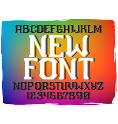 Decorative vintage font vector