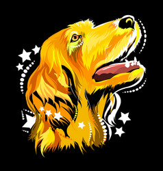 image of a dog in the style of pop art vector image vector image