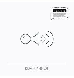 Klaxon signal icon Car horn sign vector image