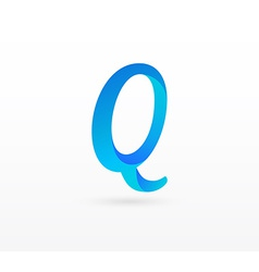 Leller Q on white background vector image