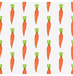 Seamless watercolor pattern with tiny carrots on vector image vector image