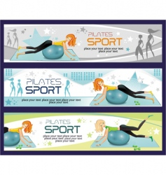 sporty girl banners vector image