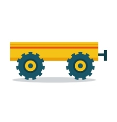 Trailer in Flat Style Design vector image