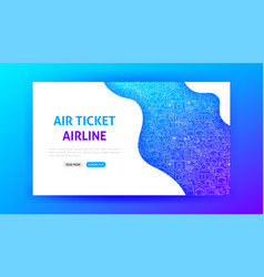 Airline landing page vector