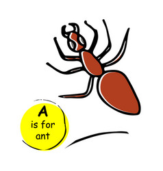Ant hand drawn sketch vector
