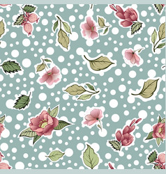 beautiful vintage floral pattern vector image