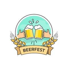 Beer festival label isolated beerfest logo vector