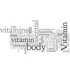 Benefits and deficiencies vitamins vector