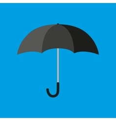Black umbrella icon vector image