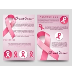 Breast cancer awareness brochure template vector image