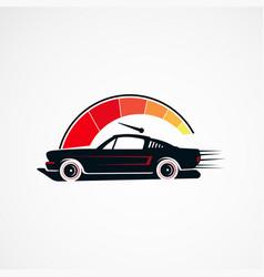 car speed service retro vintage concept logo vector image
