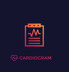 Cardiogram heart diagnosis icon vector