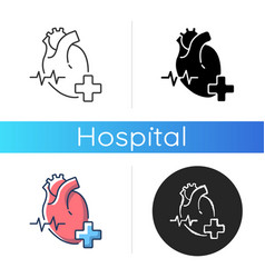 cardiology department icon vector image