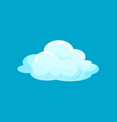 Cartoon icon of small fluffy cloud flying in sky vector