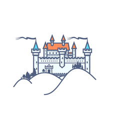 castle hill on white background vector image