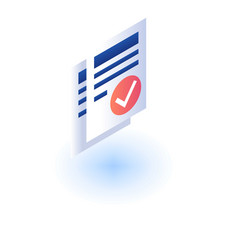 checked paper icon isometric style vector image