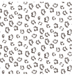 cheetah scribbled texture seamless pattern vector image