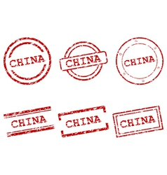 China stamps vector
