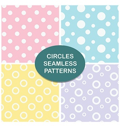 Circles seamless pattern set vector