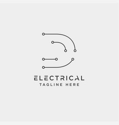 Connect or electrical d logo design icon element vector
