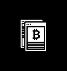 Crypto news icon vector