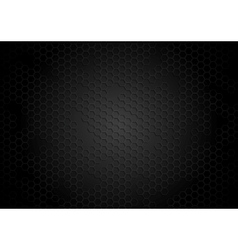 Dark tech background with hexagons vector