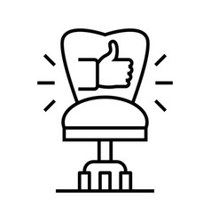director chair line icon concept sign outline vector image
