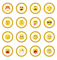Emoticon icon circle vector