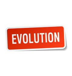 Evolution square sticker on white vector