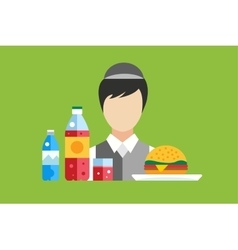Fast food restaurant objects set vector image vector image
