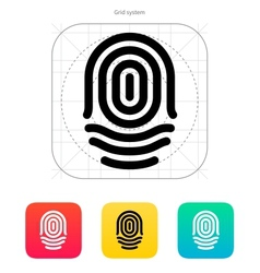 Fingerprint whorl type icon vector