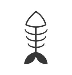 Fish dead sea marine animal icon graphic vector