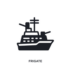 Frigate isolated icon simple element from vector