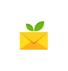 Fruit mail logo icon design vector