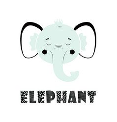 funny kids print elephant vector image